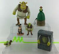 Shrek Toy Figure Lot 6pc Shrek Fiona Puss in Boots Dreamworks McDonalds C4