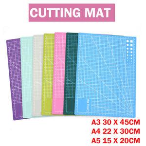 Cutting Mat Size Non Slip Self Healing Printed Grid Craft Design Board A3 A4 A5