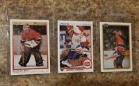 (3) Patrick Roy 1990-91 O-pee-chee Upper Deck Score lot Canadiens HOF