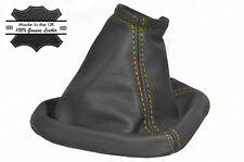 YELLOW STITCH FITS MERCEDES SPRINTER VAN DARK GREY GEAR GAITER GENUINE LEATHER