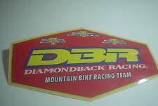 Old School DIAMONDBACK DBR Mountain Bike Racing team sticker VINTAGE