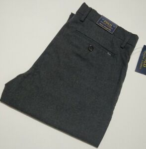 Ralph Lauren Men's Stretch Straight Fit TROUSERS  (Grey)  RRP $ 98.00 Size 32/30