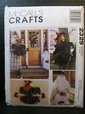 McCall's Pattern 2329 Halloween Tree / House Witch Ghost Cat Pumpkin Ornaments