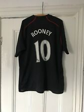 MANCHESTER UNITED 2007/2008 AWAY FOOTBALL SHIRT JERSEY NIKE ROONEY#10 XL ADULT