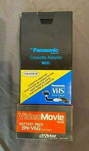 Panasonic VW-GTE7E VHS-C Cassette Tape Adapter & Victor BN-VG6 Battery GREAT