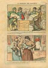 Milk powder Limime Plaster Lait Poudre Plâtre Chaux Trafiquant 1921 ILLUSTRATION