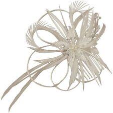 Gabriella Pearl & Feather Bridal Hair Flower Fascinator (e2093hs)