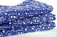 5 Yard Indian Floral Print Beautiful Hand Block Jaipuri 100% Cotton Cloth Fabric
