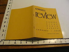 CORNELL REVIEW, vol. 2, no. 1, January 1948