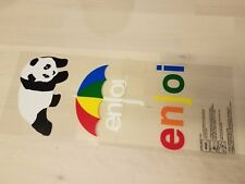 ENJOI SKATEBOARD T-SHIRT IRON ON PANDA RODNEY MULLEN CHRIS COLE DECK STICKER RAD