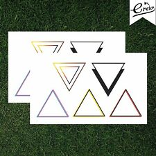 569c00759 Geometric Triangle Temporary Tattoo Gold Red Purple Pink Shapes Arrow Set  of 2