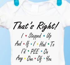 I'd Pee On Any Of You, Friends Tv Show Inspired Joey Gerber Baby Onesie Gift