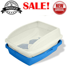 CP5 Sifting Cat Pan/Litter Box with Frame Blue Gray Color And High Quality NEW