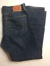 Levis 505  Mens Regular Fit Straight Leg Medium Wash Denim Jeans 36x30 36 x 30