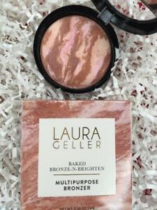 LAURA GELLER Baked Bronze N Brighten Bronzer FAIR .32oz Full Size - NEW in Box!