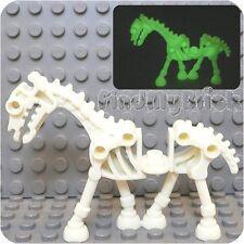 N510A Lego Minifigure Animal Skeleton Skeletal Horse - Glow in Dark 9462 NEW