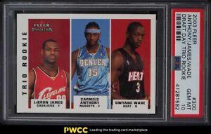 2003 Fleer Tradition Dwyane Wade LeBron James Carmelo Anthony ROOKIE #300 PSA 10