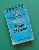 1981-85 Honda Motorcycle Spec Manual Service Book CT XL CR XR CB CM CX VF GL ATV