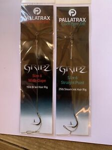 PALLATRAX GRIPZ HAIR RIGS 5 RIGS PER PURCHASE WIDE GAPE OR STRAIGHT POINT