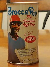 Brocca Pop Can Lou Brock Vess Red Soda 1977 1978 St Louis Cardinals Baseball