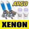 H7 55W SUPER WHITE XENON 499 HEAD LIGHT BULBS 12v + 501 W5W LED SIDELIGHTS