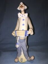 """Casades Porcelain 11"""" Clown Playing the Accordian, Perfect!"""