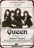 "1976 Queen in Pittsburgh Rustic Vintage Retro Metal Sign 8"" x 12"""