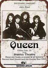 "1976 Queen in Pittsburgh Rustic Vintage Retro Metal Sign 8"" x 12"""