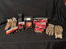 Vintage Lot  Tin FIRE ENGINE FDNY VHS gloves Remco Radio Toy Airplane New Bright
