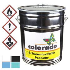 colorado Schwimmbadfarbe Poolfarbe Teichfarbe 12 KG bfn weiß RAL 9016