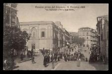 """MESSINA prima del terremoto 28 dicembre 1908 """"via garibaldi e porta real basso"""""""