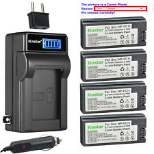 Kastar Battery LCD AC Charger for Sony NP-FC10 BC-VC10 & Sony Cyber-shot DSC-P8R