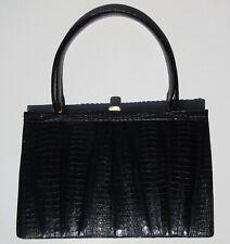 Krokotasche,schwarz, IRV, Krokodilleder Handtasche, Crocodile Leather Bag, CITES