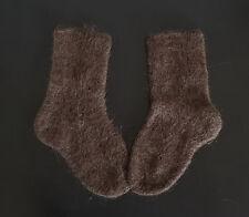 2017 Unisex Unworn Hand Knitted Dark Socks of Husky Hair & Wool Made in Siberia
