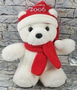 DAYTON HUDSON  - 2006 SANTA BEAR Christmas Stuffed Animal White Teddy PLUSH TOY