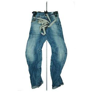 G-STAR Arc 3D Loose Tapered Braces Unisex Jeans Hose m. Hosenträger W26 L32 Blau