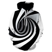 Womens Mens 3D Hypnotic Printed  Hoodie Sweatshirt Sweater Pullover Jacket Coat