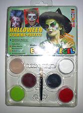 Eulenspiegel Schminke Profi Aqua Kinder Schminkfarbe Halloween Set
