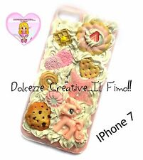 Cover Iphone 7 - panna cioccolato biscotti pastel goth cookie torta waffle cute