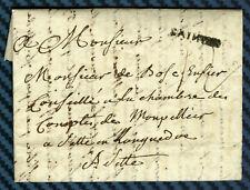 -= Lettre de SAINTES (Saintonge) pour CETTE (Languedoc) - 1787 =-