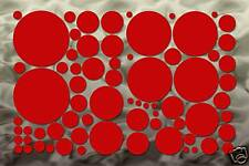 70 Red Circle Wall Art Decal Stickers Polka Dot Bedroom