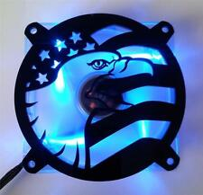 Custom 80mm FLAG EAGLE Computer Fan Grill Gloss Black Acrylic Cooling Cover Mod