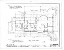 Shingle Style country house, architectural drawings, large porch, spacious rooms