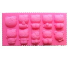 HELLO KITTY Silicone Mold cake chocolate Muffin Jelly mold ice tray Kitchen kit