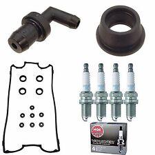 Valve Cover Gasket Kit  NGK(4291) Plugs PCV Valve/Grommet Honda CRV 2000-2001