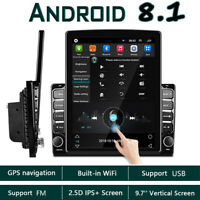 2 Din Android 8.1 9.7'' Vertical Car Stereo Radio GPS Navi Bluetooth USB Player