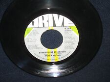 """Peter Brown """"Do Ya Wanna Get Funky WIth Me/Burning Love Breakdown"""" 45"""