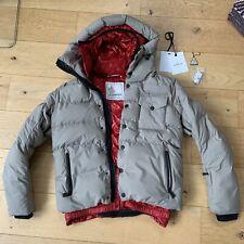 Moncler Grenoble Gr.M (3),echte Daunenjacke, matt grau,Jacke,Skijacke + Etikett