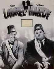 LAUREL AND HARDY Signed 23x18 Photo Display SONS OF THE DESERT COA