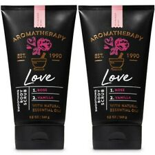 2 Bath & Body Works Aromatherapy Love Rose Vanilla 9.5 Oz Soothing Body Scrub